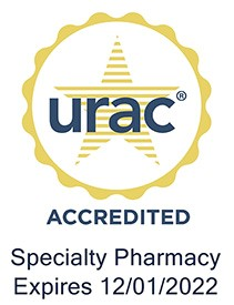 URAC Accredited Specialty Pharmacy: Expires 12/01/2019